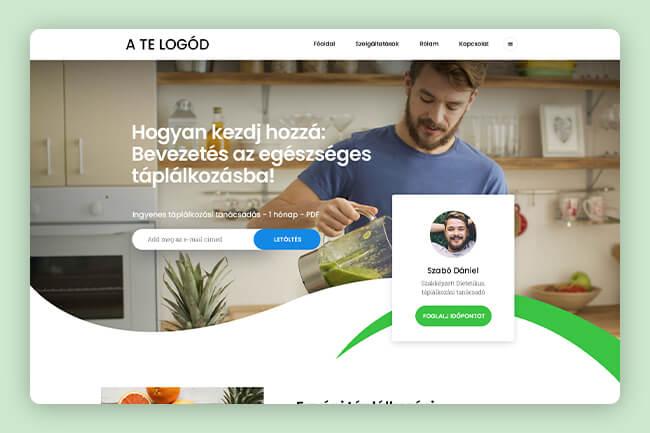 dietetikus weboldal bemutatkozó oldal készítés debrecen